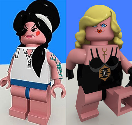 Amy and Madonna get LEGO makeover
